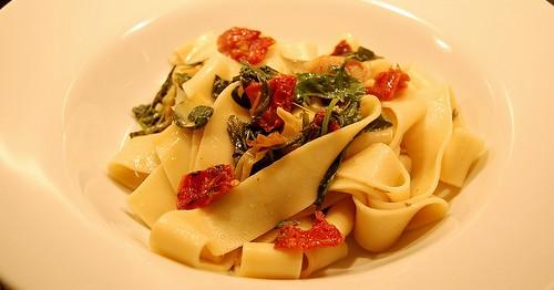 Pappardelle con Carciofi e Rucola - Ricette Vegetariane
